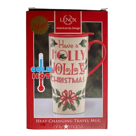 Lenox Heat Changing Christmas 20oz Travel Mug